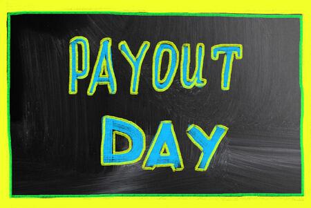 payout: concepto de d�a de pago