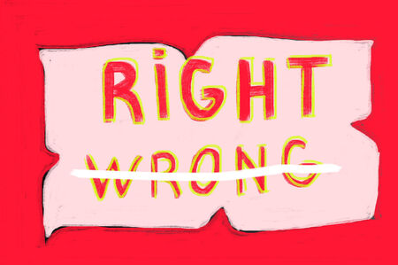 right vs wrong: right concept