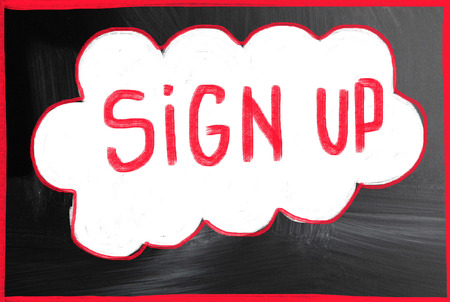 signup: sign up concept