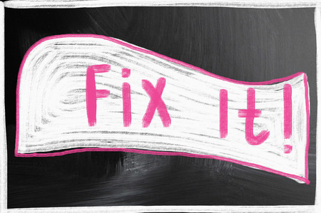 fix it concept photo