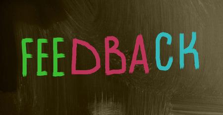 encapsulate: feedback concept Stock Photo