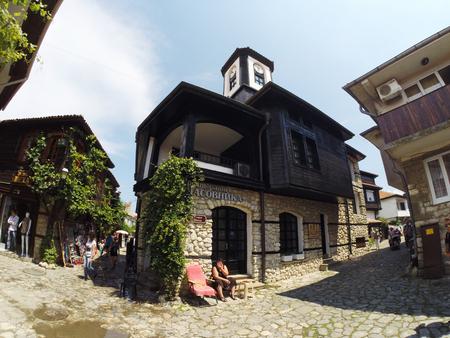 NESSEBAR, BULGARIA - JUNE 16: People visit Old Town on June 16, 2014 in Nessebar, Bulgaria.