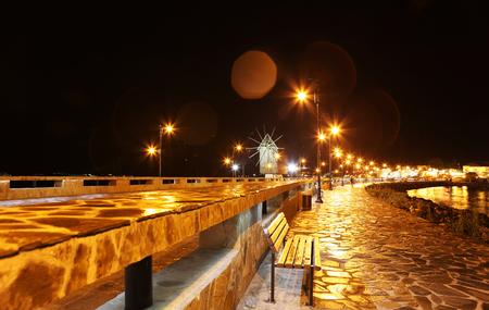 NESSEBAR, BULGARIA - JUNE 16:  Nessebar at Night, June 16, 2014. Nessebar in 1956 was declared as museum city, archaeological and architectural reservation by UNESCO.
