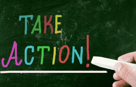 without delay: take action concept