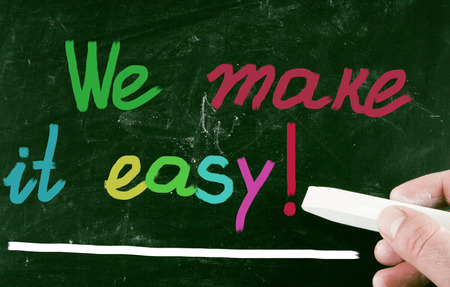 we make it easy! photo