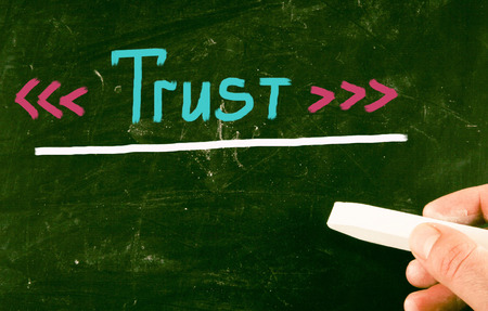 confianza concepto: concepto de fideicomiso Foto de archivo