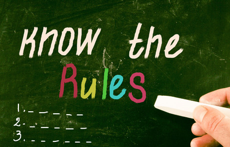 know the rules concept photo