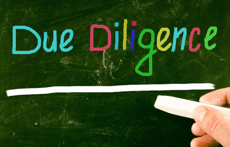 diligence: due diligence concept Stock Photo