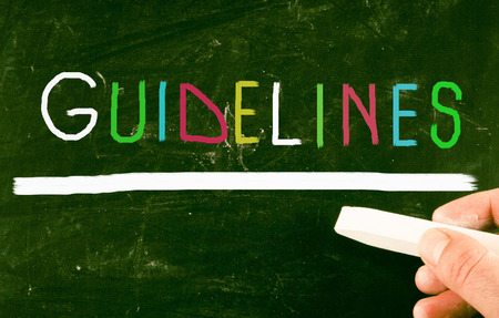 guideline: guidelines concept Stock Photo