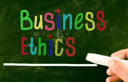 etica empresarial: concepto de �tica empresarial Foto de archivo