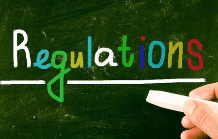 regulations concept photo
