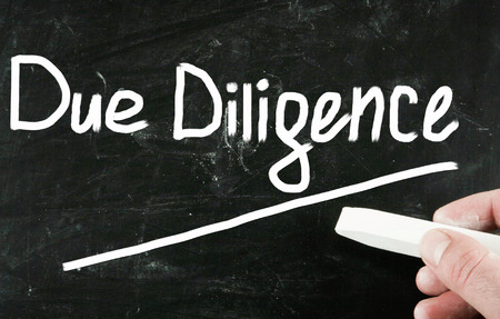 mergers: due diligence concept Stock Photo