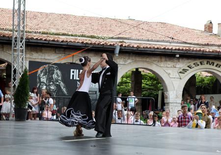patronage: NESSEBAR - JUNE 18: %u201CSun, Joy, Beauty%u201D 15th International Children%u2019s Festival on June 18, 2014 in Nessebar, Bulgaria. The festival is organized every year in the town of Nessebar under the patronage of the municipality.