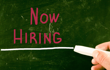 now hiring concept photo
