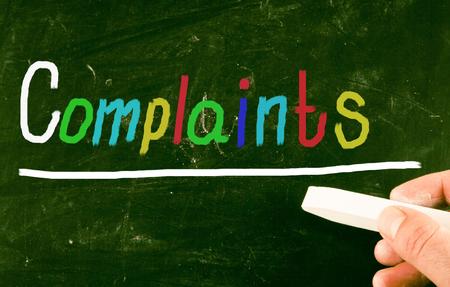 complaints: complaints concept