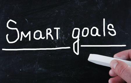 plan de accion: metas inteligentes concepto Foto de archivo