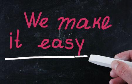 we make it easy concept photo