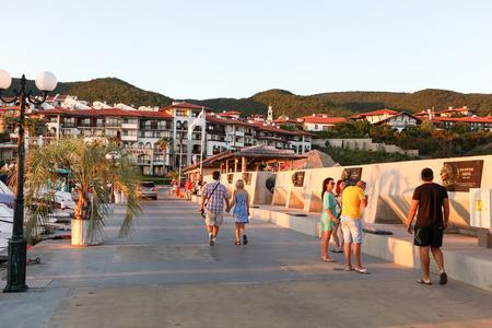 SVETI VLAS - AUGUST 29: Yachtport Marina Dinevi, August 29, 2014. Sveti Vlas is a town and seaside resort on the Black Sea coast of Bulgaria, located in Nesebar municipality, Burgas Province.
