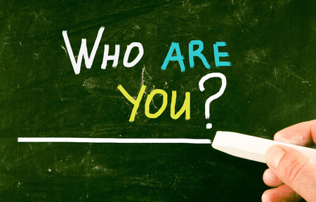 individualism: who are you concept Stock Photo