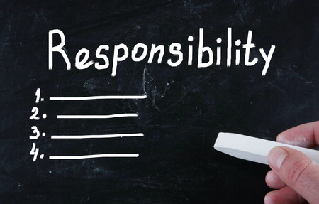 corporate responsibility: responsibility concept Stock Photo
