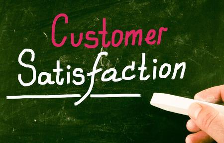 satisfaction client: la satisfaction du client Banque d'images