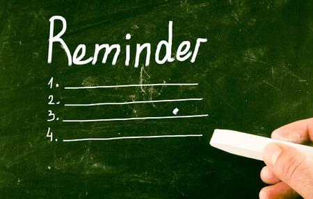 reminder concept: reminder concept