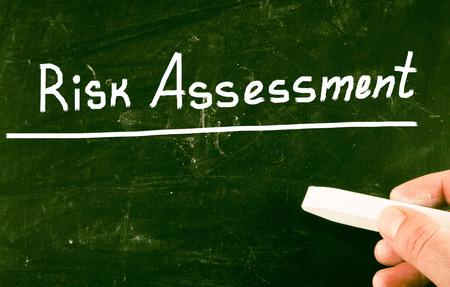 reduce risk: risk assessment Stock Photo