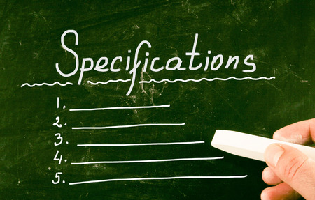 inventory: specifications concept Stock Photo