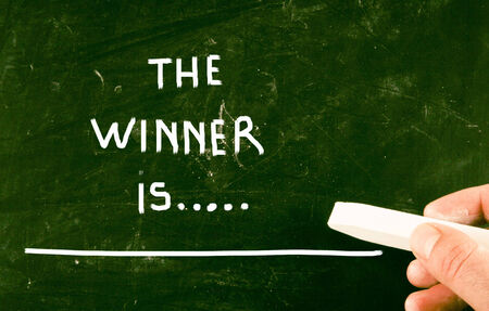jargon: the winner is... Stock Photo