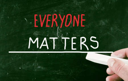 matters: everyone matters Stock Photo