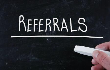 referrals: referrals concept Stock Photo