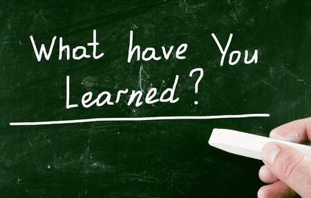 lernte: was hast du gelernt? Lizenzfreie Bilder