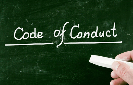 conduct: code of conduct Stock Photo