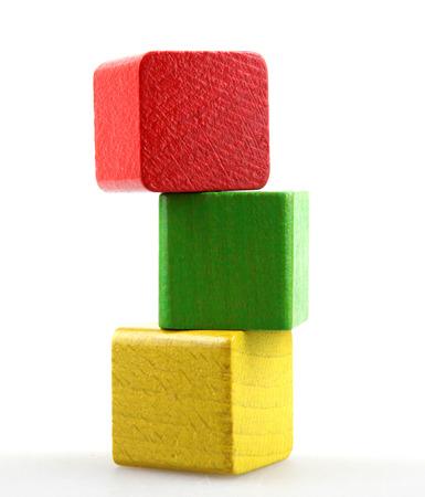 play blocks: Wooden building blocks Stock Photo