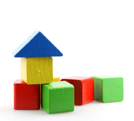 木製のビルディング ブロック。