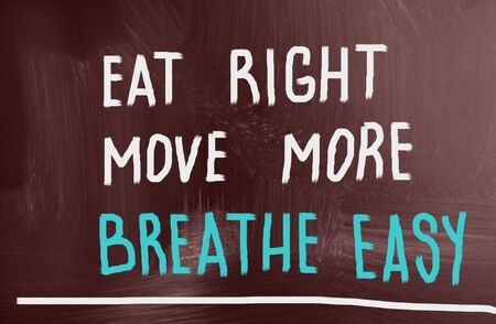 eat right: eat right, move more, breathe easy