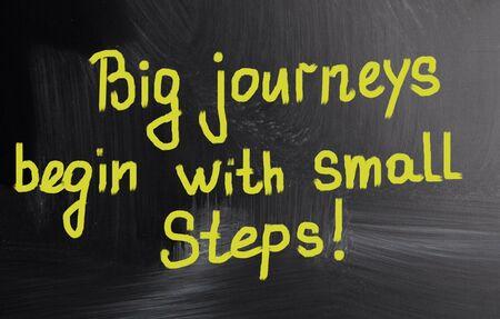 empezar: grandes viajes comienzan con peque�os pasos! Foto de archivo
