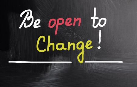 be the change: be open to change! Stock Photo