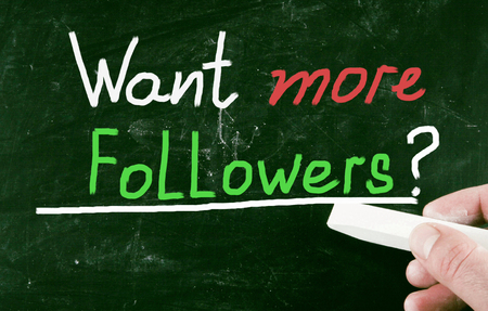 more: want more followers? Stock Photo