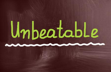 unbeatable: unbeatable concept Stock Photo
