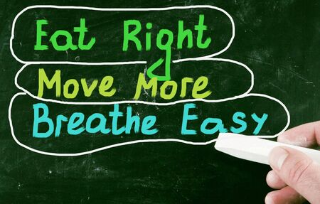 breathe easy: diet concept