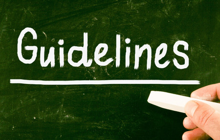 guidelines: guidelines concept Stock Photo