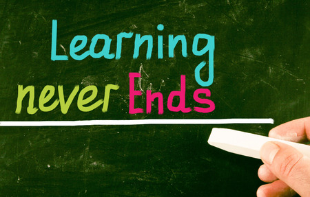 recap: education concept Stock Photo