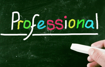 professionalism: professional concept Stock Photo