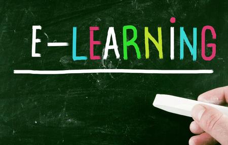 recap: e-learning concept Stock Photo