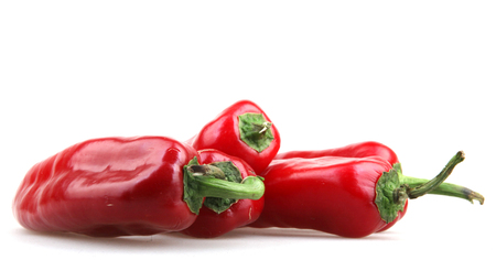 red peppers: Red peppers on white background