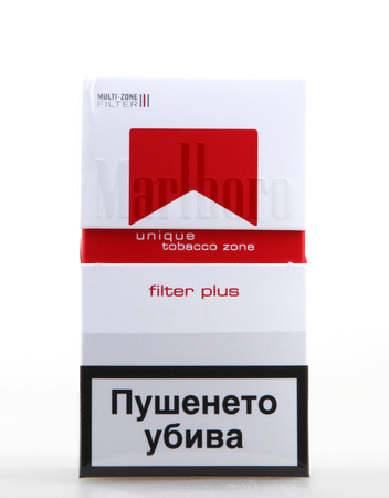 morris: AYTOS, BULGARIA - JULY 08, 2015:  Pack of Marlboro Cigarettes, made by Philip Morris. Marlboro is the largest selling brand of cigarettes in the world. Editorial