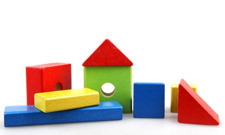 Wooden building blocks Standard-Bild