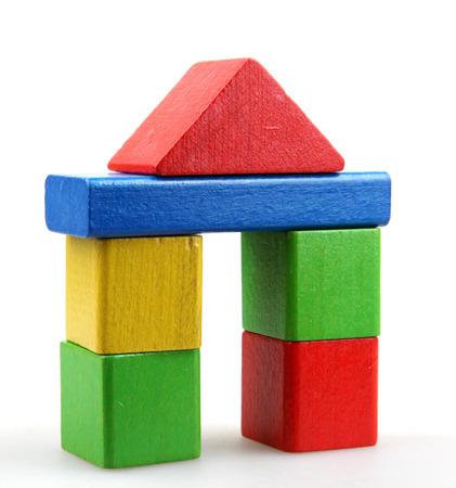 Wooden building blocks Archivio Fotografico