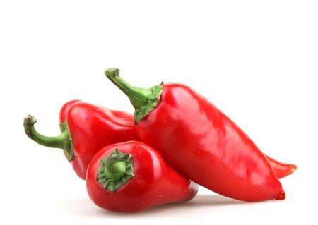 chiles secos: Red Peppers Foto de archivo